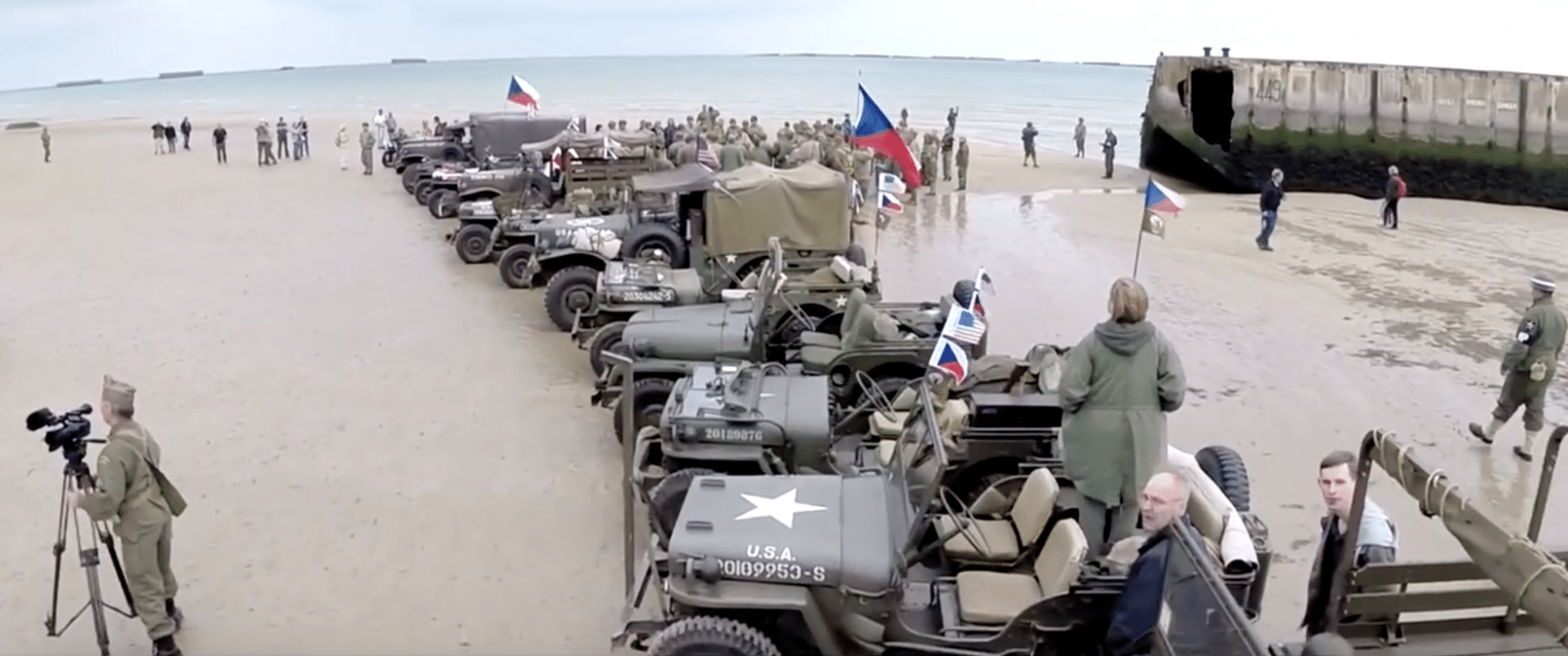 Check out this unreal drone footage of Normandy Beach on the 70th anniversary of D-Day   American Military News